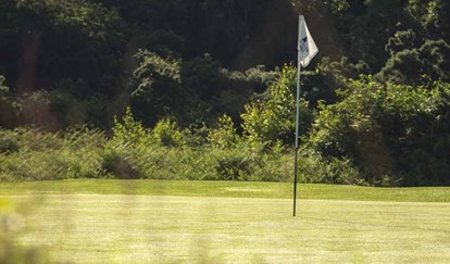 18Th Pin Flag At Thorpeness Golf Course Suffolk
