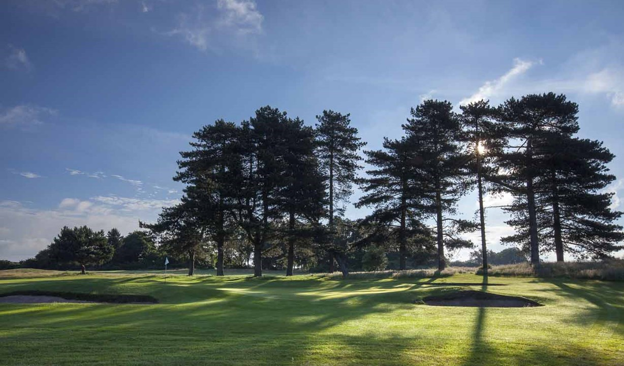 Greenside On The 2Nd Hole At Thorpeness Golf Course Suffolk