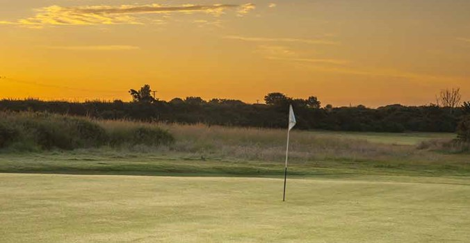 Thorpeness golf club, sun rise