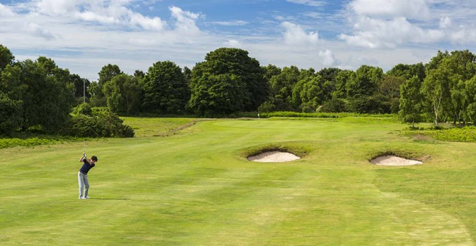 Approach Shot Into The 13Th Hole At Thorpeness Golf Course Suffolk