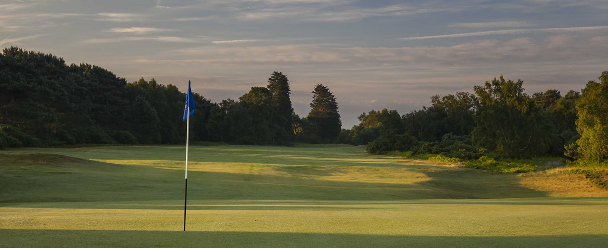 9th green looking back at Thorpeness Golf Course Suffolk