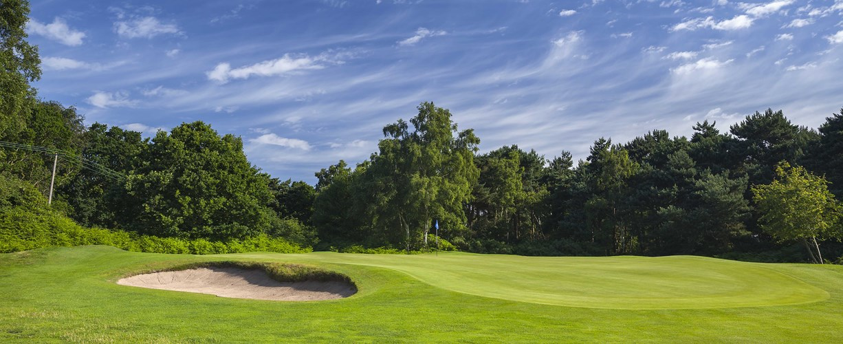 14th hole greenside at Thorpeness Golf Course Suffolk