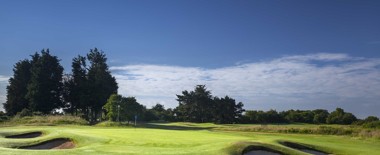 17th green at Thorpeness Golf Course Suffolk
