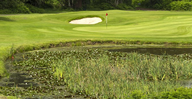 Thorpeness golf club, shot over lake