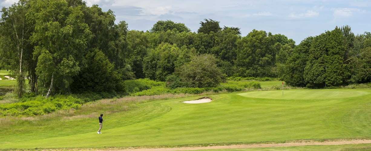 Pitch into the 6th at Thorpeness Golf Course Suffolk